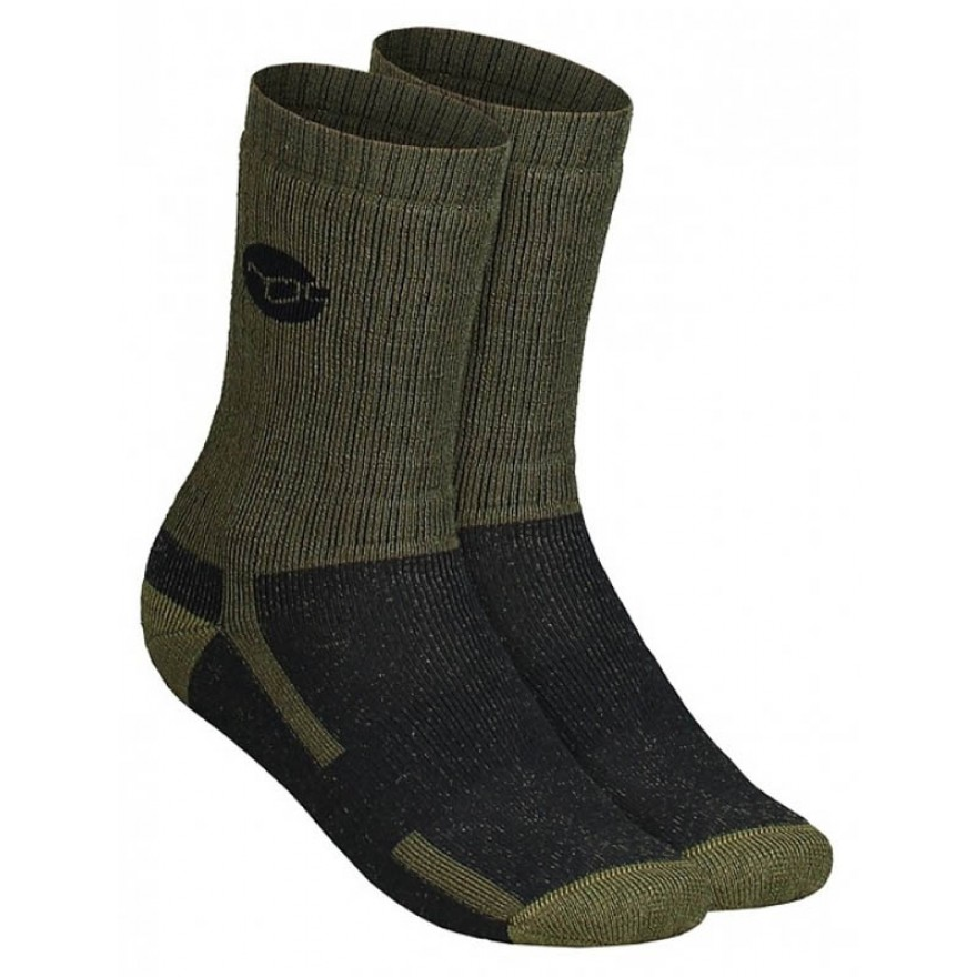 Korda Kore Merino Wool Socks Olive - UK 10-12 / EU 44-46
