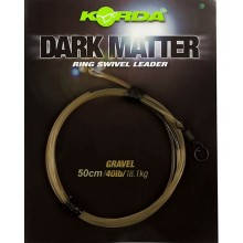 Korda Dark Matter Kamo Ring Swivel Leader 50 cm - Weed