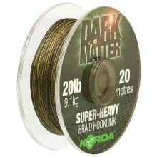 "Korda ""Dark Matter Super-Heavy Braid Hooklink"" 20lb"