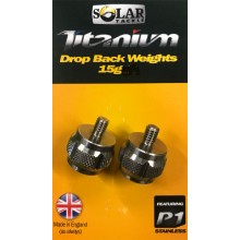 Solar Tackle Titanium Drop Back Weights - 15 g 2er Pack